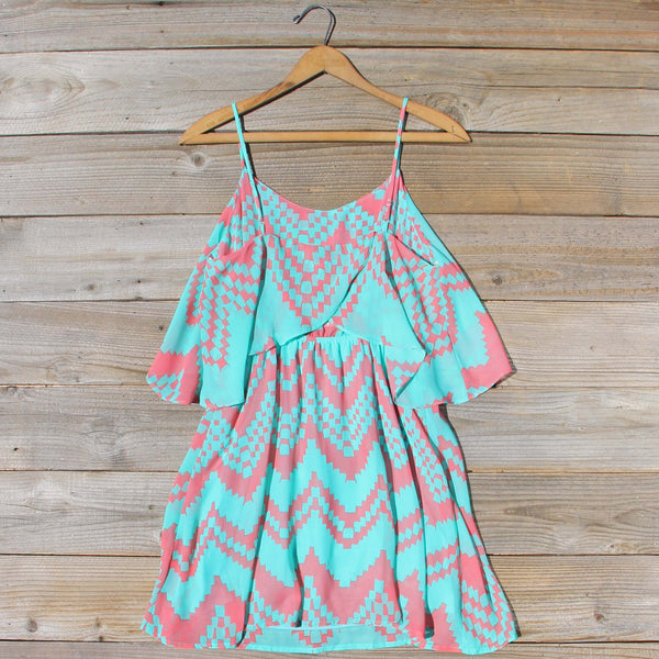 Indian Watercolor Dress in Mint: Featured Product Image