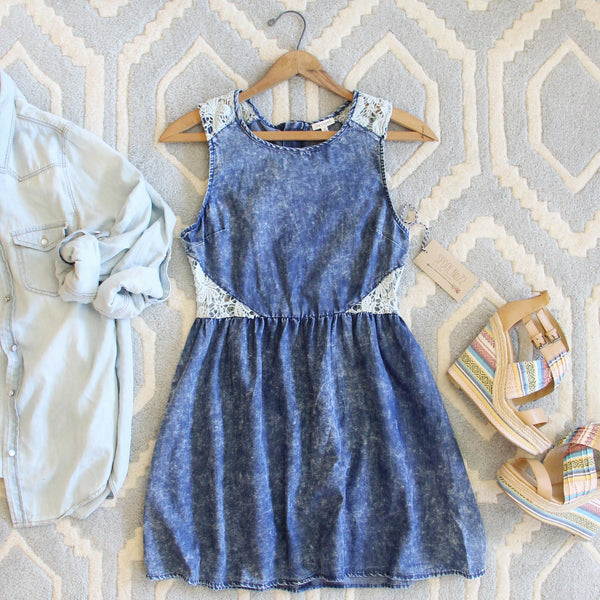 Indigo & Lace Dress: Featured Product Image
