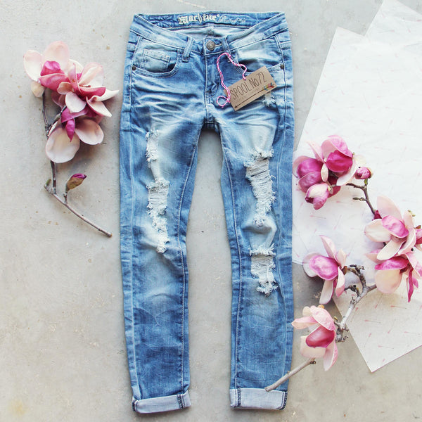 Indigo Sky Crop Jeans: Featured Product Image
