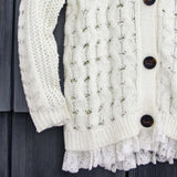 Jack Frost Lace Fisherman's Sweater: Alternate View #3