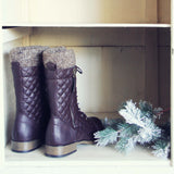 Jack Pine Sweater Boots in Brown: Alternate View #3