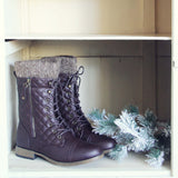 Jack Pine Sweater Boots in Brown: Alternate View #1