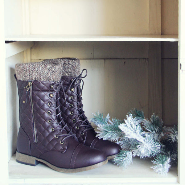 Jack Pine Sweater Boots in Brown: Featured Product Image