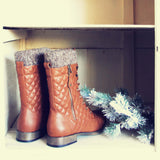 Jack Pine Sweater Boots in Cognac: Alternate View #3
