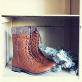 Jack Pine Sweater Boots in Cognac: Alternate View #1