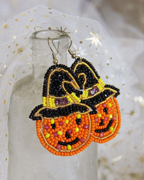 Jack-O-Lantern Earrings: Featured Product Image