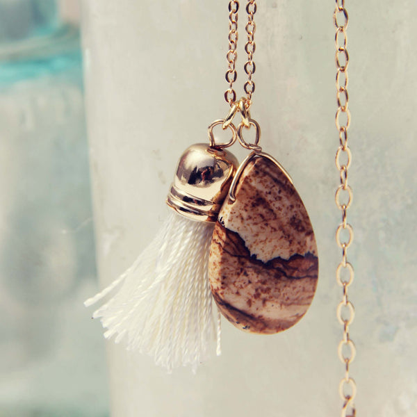 Jasper & Tassel Necklace: Featured Product Image