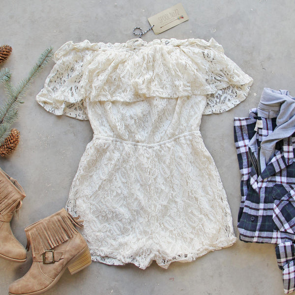 Juniper Lace Romper: Featured Product Image