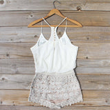 Kindred Spirits Romper in Sand: Alternate View #4