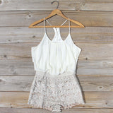 Kindred Spirits Romper in Sand: Alternate View #1