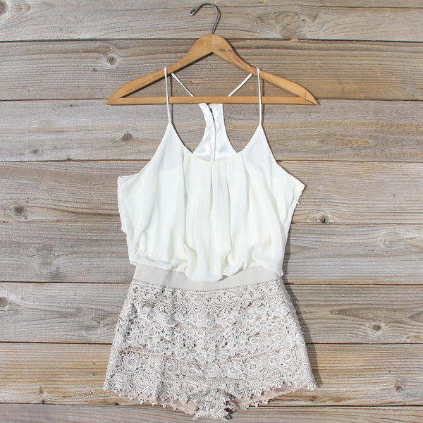 Kindred Spirits Romper in Sand: Featured Product Image