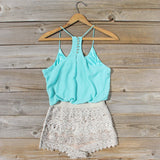 Kindred Spirits Romper in Mint: Alternate View #4