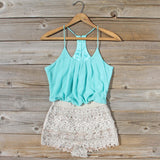 Kindred Spirits Romper in Mint: Alternate View #1