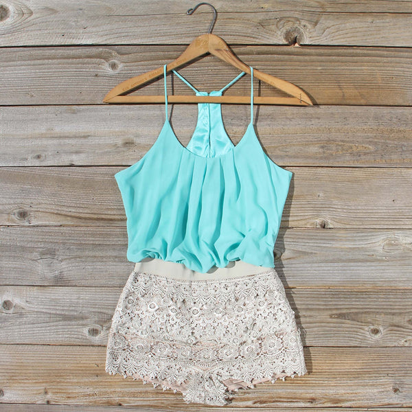 Kindred Spirits Romper in Mint: Featured Product Image