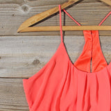 Kindred Spirits Romper in Coral: Alternate View #2