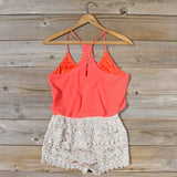 Kindred Spirits Romper in Coral: Alternate View #4