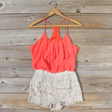Kindred Spirits Romper in Coral: Alternate View #1