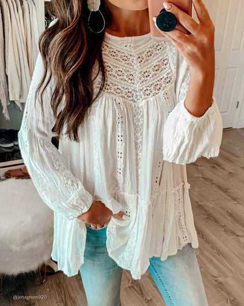Kiss Lace Tunic Top: Featured Product Image