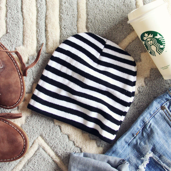 Knit & Stripe Beanie: Featured Product Image