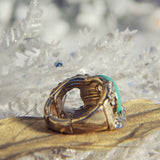 Knotted Ring in Mint: Alternate View #2