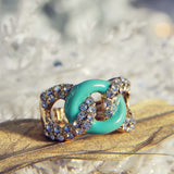 Knotted Ring in Mint: Alternate View #1