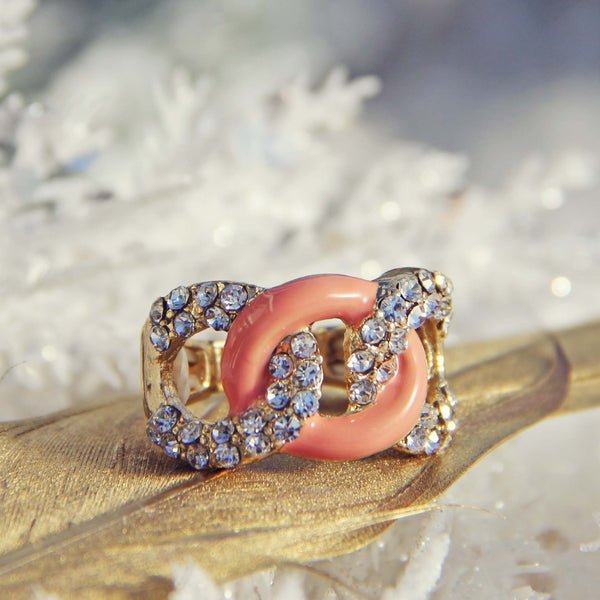 Knotted Ring in Peach: Featured Product Image