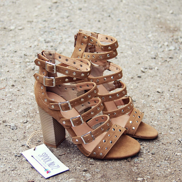 Knox Strappy Heel in Caramel: Featured Product Image