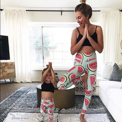 Watermelon Stretch Yoga Pants