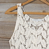 La Conner Lace Tank in Cream: Alternate View #2