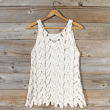 La Conner Lace Tank in Cream: Alternate View #4