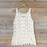 La Conner Lace Tank in Cream: Alternate View #1