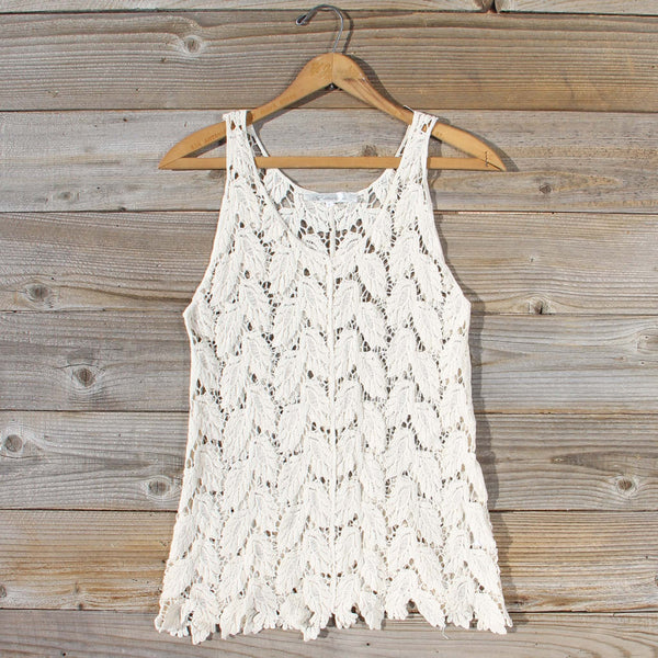 La Conner Lace Tank in Cream: Featured Product Image