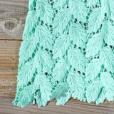 La Conner Lace Tank in Mint: Alternate View #3