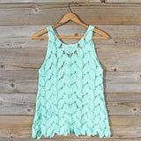 La Conner Lace Tank in Mint: Alternate View #4