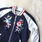 La Fleur Velvet Bomber Jacket: Alternate View #2