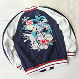 La Fleur Velvet Bomber Jacket: Alternate View #1