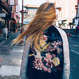 La Fleur Velvet Bomber Jacket: Alternate View #3
