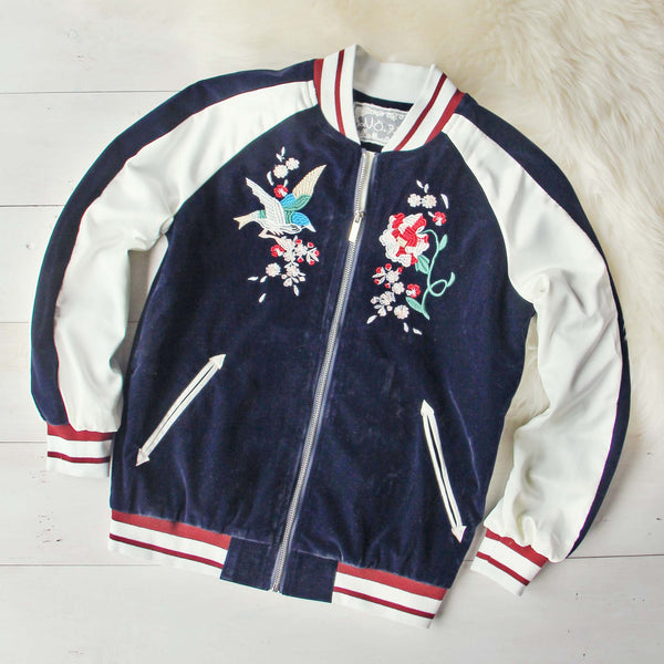 La Fleur Velvet Bomber Jacket: Featured Product Image