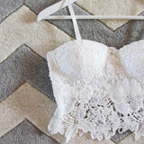 La Lune Lace Bustier in White: Alternate View #2