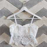 La Lune Lace Bustier in White: Alternate View #3