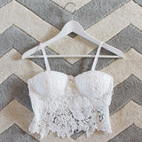 La Lune Lace Bustier in White: Alternate View #1