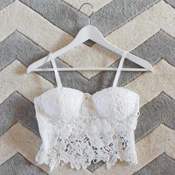La Lune Lace Bustier in White: Featured Product Image