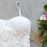 La Lune Lace Top in White (wholesale): Alternate View #2