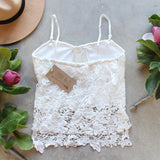 La Lune Lace Top in White (wholesale): Alternate View #4