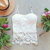 La Lune Lace Top in White (wholesale): Alternate View #1