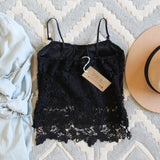 La Lune Lace Top in Black: Alternate View #3