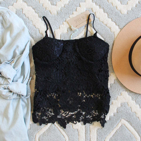 La Lune Lace Top in Black: Featured Product Image