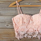 La Lune Lace Bustier in Peony: Alternate View #2