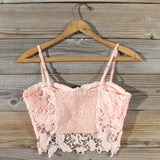 La Lune Lace Bustier in Peony: Alternate View #3
