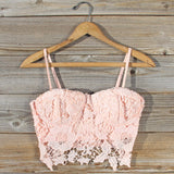 La Lune Lace Bustier in Peony: Alternate View #1